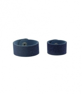 Blauwe glitter scarvelet, sjaal riem, van leer in een set van 2 stuks (10 en 13 cm.)