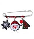 Mooie kerstmis sjaal speld